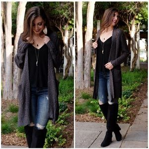 Charcoal Soft and Cozy Cardigan